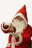Santa with Christmas Decoration Royalty Free Stock Image