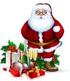 Santa Christmas design Stock Photos