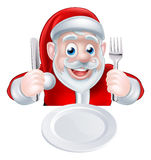 Santa Christmas Dinner Illustration Libre de Droits