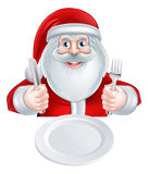 Santa Christmas Dinner Concept Illustration Libre de Droits