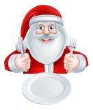 Santa Christmas Dinner Concept Image libre de droits