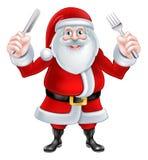 Santa Christmas Food Stock Image