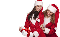 Santa with christmas gift Royalty Free Stock Image