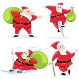 Santa with Christmas Gift Royalty Free Stock Photo