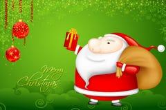 Santa with Christmas Gift. Illustration of Santa Claus with Christmas gift Royalty Free Stock Photo