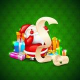 Santa with Christmas Gift Stock Image
