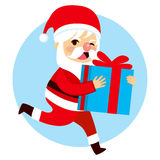 Santa Christmas Gift Royalty Free Stock Photography