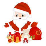 Santa with christmas gifts Stock Photography