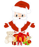 Santa with christmas gifts Royalty Free Stock Images