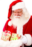 Santa with Christmas gifts Royalty Free Stock Image
