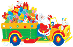 Santa with a Christmas gifts Royalty Free Stock Photos