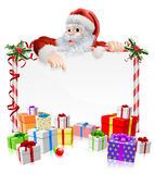 Santa Christmas Gifts Sign Fotografia Stock