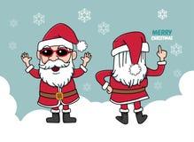 Santa christmas gifts snow smile Royalty Free Stock Photography