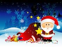 Santa christmas illustration Stock Photography