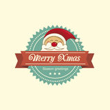 Santa christmas label Royalty Free Stock Photos