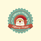 Santa christmas label Royalty Free Stock Photography