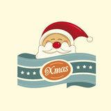 Santa christmas label Stock Photo