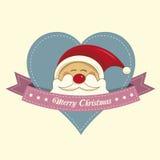 Santa christmas label Stock Image