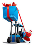 Santa with a christmas loader Royalty Free Stock Image