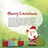 Santa and Christmas message Royalty Free Stock Photography