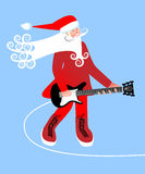Santa  Christmas musician Royalty Free Stock Photography