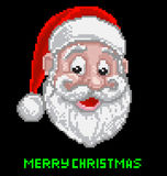 Santa Christmas Pixel Art Foto de archivo