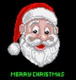 Santa Christmas Pixel Art Stock Photo