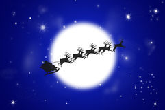 Santa and Christmas Reindeer Royalty Free Stock Photography