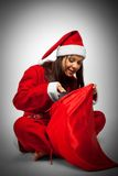 Santa with christmas sack Royalty Free Stock Images