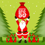 Santa Christmas Sale. Santa Claus, Christmas Sale Vector Royalty Free Stock Images