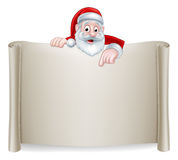 Santa Christmas Scroll Background Illustration de Vecteur