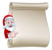 Santa Christmas Scroll Sign Foto de archivo libre de regalías