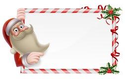 Santa Christmas Sign Imágenes de archivo libres de regalías