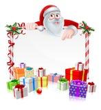 Santa Christmas Sign Foto de archivo