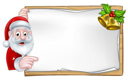 Santa Christmas Sign Stock Foto