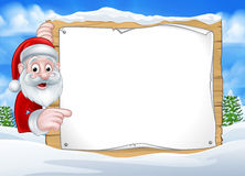 Santa Christmas Sign Background Photos libres de droits