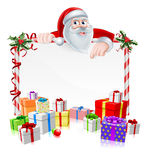 Santa Christmas Sign Stock Photo