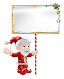 Santa Christmas Sign Illustration Stock Photos
