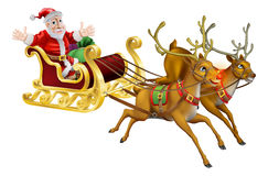 Santa Christmas Sled Stock Photos