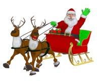 Santa Christmas Sleigh Stockfotografie