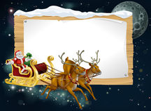 Santa Christmas Sleigh Background Stock Images