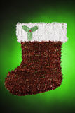 Santa Christmas Stocking Green Red White Royalty Free Stock Photography