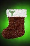 Santa Christmas Stocking Green Red White Royalty Free Stock Photography