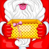 Santa with Christmas Surprise Royalty Free Stock Photos