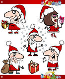 Santa and Christmas Themes Cartoon Set Stock Photo