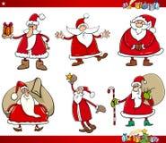 Santa on christmas time set Royalty Free Stock Image