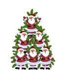 Santa Christmas träd Arkivbilder