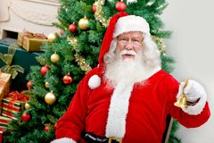 Santa with a Christmas tree Stock Photography