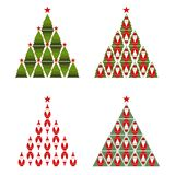 Santa Christmas Tree Royalty Free Stock Photos