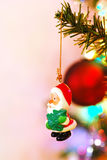 Santa christmas Tree Decoration on a branch Royalty Free Stock Images